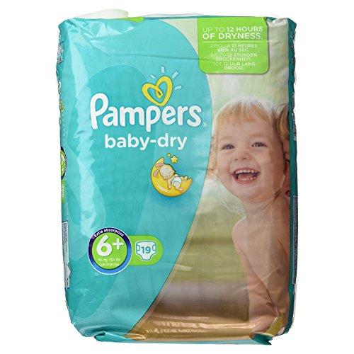 Pampers Baby-Dry Windeln Größe 6+, - Größe Windeln über 2 Nacht Pampers