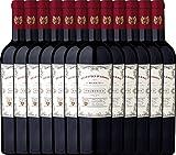 VINELLO 12er Weinpaket Primitivo - Doppio Passo Primitivo Salento 2019 - CVCB mit Weinausgießer | halbtrockener Rotwein | italienischer Wein aus Apulien | 12 x 0,75 Liter