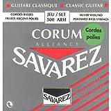 Savarez Saiten für Klassikgitarre Alliance Corum 500ARH Satz Standard Tension rot