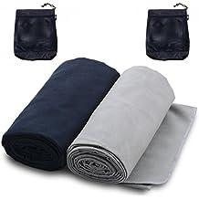 The Friendly Swede 2x Mikrofaserhandtuch inklusive 2x praktischer Trage-Netzsack - Handtuch ideal als Reisehandtuch oder Sporthandtuch