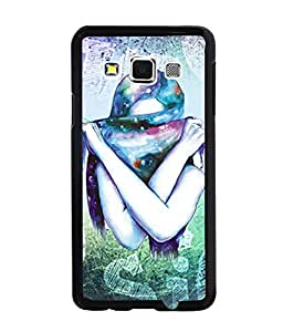 Fuson Colorful Scarf Girl Back Case Cover for SAMSUNG GALAXY A3 - D3874