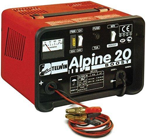 Caricabatteria Telwin Alpine 20 Boost 12-24V 18 A per Batterie ad Elettrolit