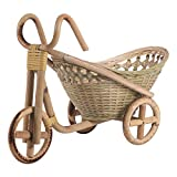 bambù Intrecciato Vimini Cestino di Paglia Rattan di Frutta Pane organizzatore per la Cucina Decorativo neatening Bicicletta