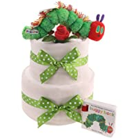 2 livelli Hungry Caterpillar torta di pannolini Baby Gifts New born free (Pois Diaper Cake)