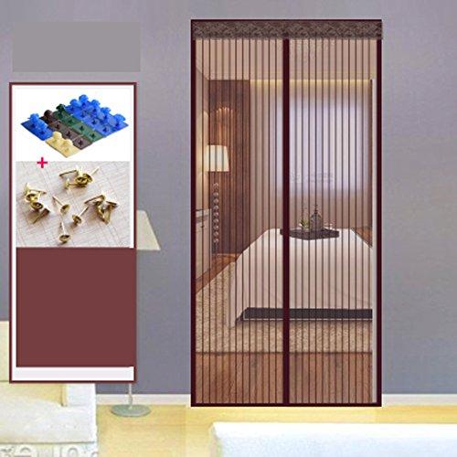 Zanzariera porta sullo schermo magnetico,super forte maglia fly, porta sullo schermo magnetico per magneti portefinestre dall'alto al basso ultra seal-f 140x240cm(55x94inch)