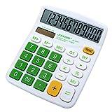 Multi-mo Standard 12-Digit Big Display Handheld Function Desktop Calculator, Green