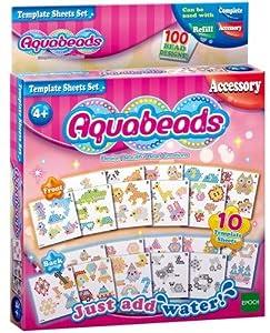 Aquabeads-Les 31319 - Hojas de diseños para Manualidades y Accesorios, Multicolor