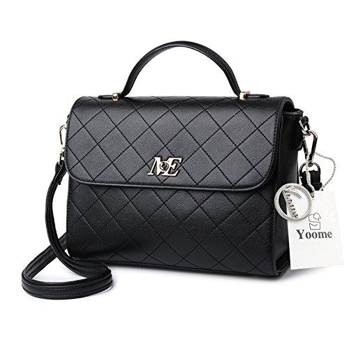 Borse da donna con borchie con borchie da trucco per donna - Borgogna Nero