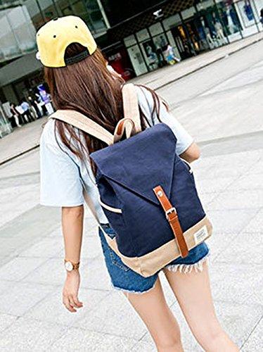 Keshi Leinwand Niedlich Schulrucksäcke/Rucksack Damen/Mädchen Vintage Schule Rucksäcke mit Moderner Streifen für Teens Jungen Studenten Beige