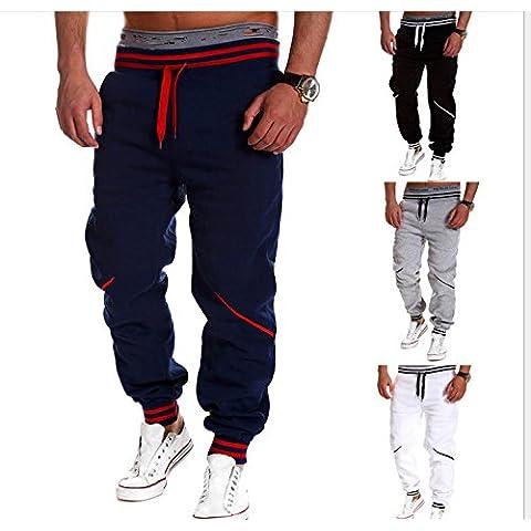 XMY Mens Skinny Track Pants Slim Cuff Trousers Pantaloni Slim Cuff Gym Fit Slacks Plain Sport Tracksuit Color Navy Size XL COLOR NEW