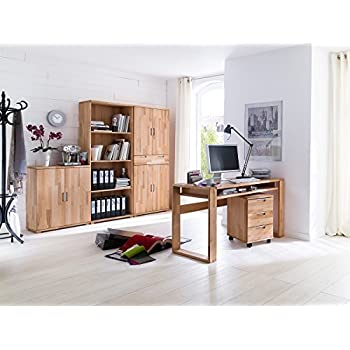 Arbeitszimmer Büroeinrichtung Büro Massivholz Büromöbel (5-teilig ...