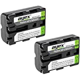 Lot de 2 ayex® NP-FM500H Batterie Li-Ion pour SONY Alpha