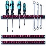 Parat 802.000-981 Werkzeughalter/Klammer-Leisten-Set schwarz/rot
