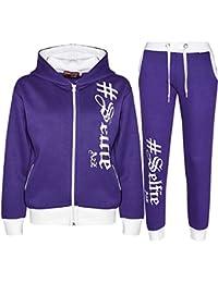 A2Z 4 Kids® Kinder Jungen Mädchen Designer Trainingsanzug #Selfie Aufdruck Kapuzenpulli & Hosen Jogginganzug 7-13 Jahren