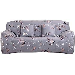 Housse de protection pour canapé 1234places, tissu élastique, Grey Pattern, 3 sièges