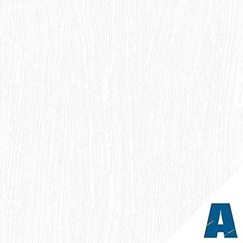 Artesive WD-059 Legno Bianco Opaco 30 cm Larghezza AL METRO LINEARE - Pellicola Adesiva in vinile effetto legno per interni per rinnovare mobili, porte e oggetti di casa