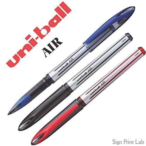 6 x UNI-BALL AIR UBA 188M 0.5mm penna a sfera 3 colori con Mix & Match opzione DISPONIBILI - Rosso