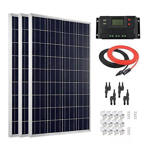 Giosolar 300W Solar-Panel, mit Solarpanel Photovoltaik-30(für Wohnmobil, Wohnwagen, Camper, Boot/Yacht (Camper Solar-panel-kit Für)