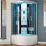 VIRPOL Modern Quadrant NO Steam Shower Cubicle Enclosure Bath Cabin Room Black 900