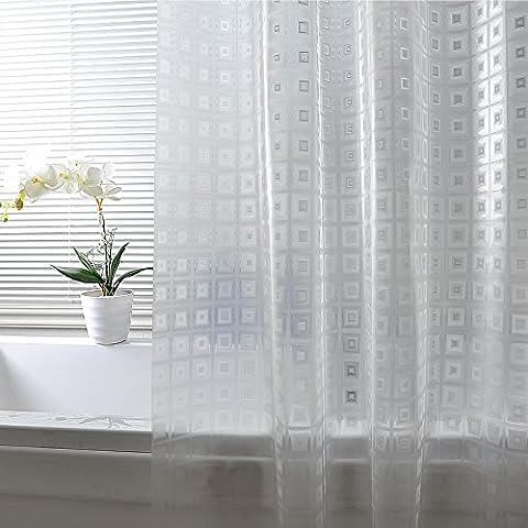 Dreamingces Rideaux de douche rideau de salle de bains imperméable à l'eau mouldproof facile à installer et propre tissu rapide-sec maintiennent le plancher sec des éclaboussures Transparent 180*260cm