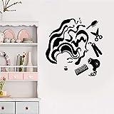 stickers muraux 3d zombie Salon de coiffure Outils Femme Coiffeur Styliste pour salon de beauté