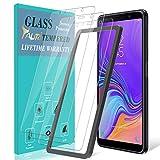 TAURI Protection écran pour Samsung Galaxy A7 2018 [3 Pièces] [2.5D] [9H Dureté] [Cadre d'alignement Installation Facile] Film Protection Verre Trempé