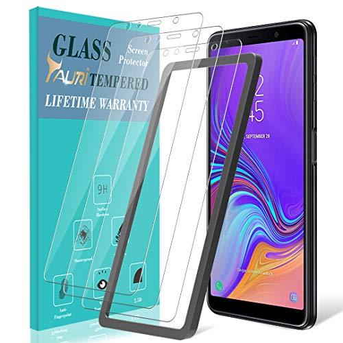 TAURI Schutzfolie Folie für Samsung Galaxy A7 2018 [3 Stück] [Ausrichtungsrahmen Einfache Installation] [2.5D R&e Kante] [9H Härte] Gehärtetem Glas Folie Hartglas Bildschirmschutzfolie