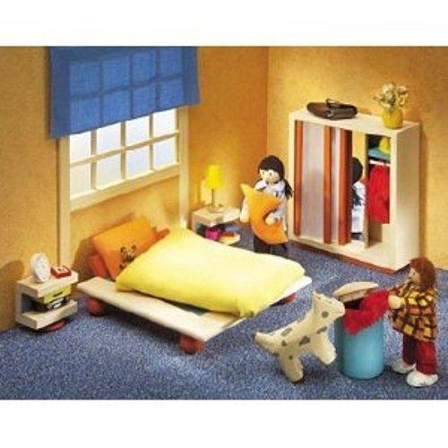 Selecta 4362 Ambiente- Mobili per la camera da letta della casa delle bambole
