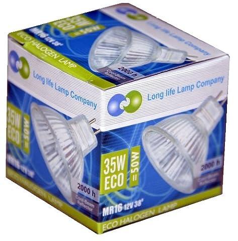 10 x 35W Energy Saving Halogen Dichroic Reflector GU5.3 12v Light Bulbs, 30% Energy Saving Advance technology halogen bulb, Dimmable and Cool Running