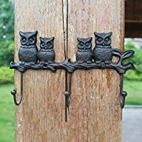OLIr Hanger Coat Rack European Wrought Iron Mother and Child Owl Hook Wall Hanging Hook