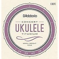 D'Addario EJ87C - Juego de cuerdas para ukelele de concierto de titanio