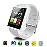 Bluetooth Smart Watch Uhr für Android & iOS Smartphones, Joymixx U8 Smartwatch Fitness Tracker Intelligente Armbanduhr mit Schrittzähler / Remote Fotografie / Stoppuhr für Herren Damen, Smart Gesundheit Armbanduhr für Apple iPhone 6 / 6S / 6Plus / 6S Plus / 5S / SE, Samsung Note3 / Note4 / Note5 / S7 / S6 / S5 / S4, Sony, HTC, Huawei (Weiß)
