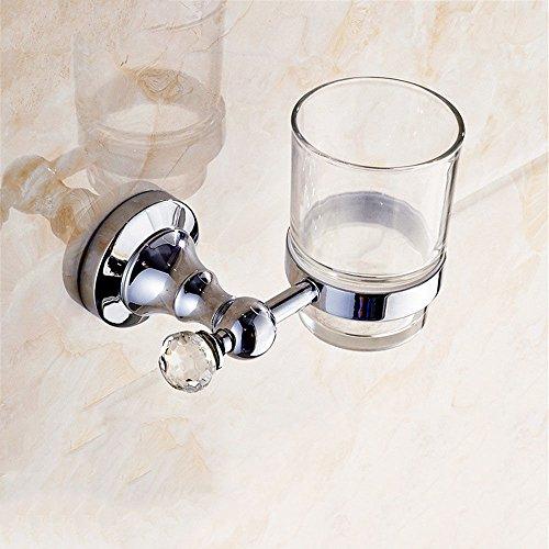 LHbox Tap Kupfer Badetuch Rack voll Messing Handtuchhalter Handtuchhalter Badezimmer Suite, Zahnbürste Becher - Messing Becher Und Racks