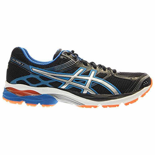 Asics Men's Gel-Pulse 7, Black/Lighting/Electric Blue, 9.5