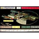 Star Trek - Poster - Enterprise, 1701 D Cut Away + Ü-Poster