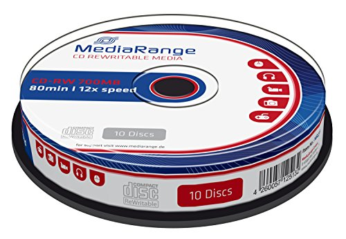 MediaRange MR235 CD-RW 700MB (80min. 12x Speed, wiederbeschreibbar, 10 Stück)