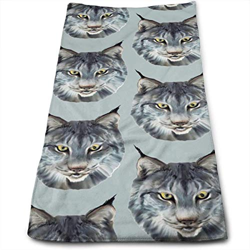 OQUYCZ The Wild Cat Wild Animal Microfiber Towels Ultra Soft & Absorbent Bathroom Towels - Great Shower Towels, Hotel Towels & Gym Towels