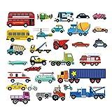decalmile Transports Stickers Muraux Enfant Autocollants Mural Chambre Bébé Garçon...