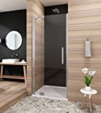 80cm Duschabtrennung Duschtür Duschwand Duschtrennwand mit Nano Beschichtung Höhe 190cm Klarglas Links