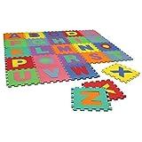 Spielmatte Puzzle-Teppich für Kinder - Weicher EVA-Schaumstoff - Mit Buchstaben