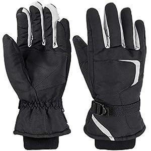 FYLINA Skihandschuhe Schi/Snowboard Handschuhe Wasserdichte Winterhandschuhe Touchscreen Sporthandschuhe Warm und Atmungsaktiv für Skifahren Motorradfahren Wandern Herren Damen