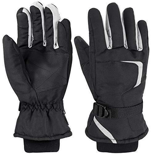Herren Ski-handschuh (FYLINA Skihandschuhe Schi/Snowboard Handschuhe Wasserdichte Winterhandschuhe Touchscreen Sporthandschuhe Warm und Atmungsaktiv für Skifahren Motorradfahren Wandern Herren Damen)