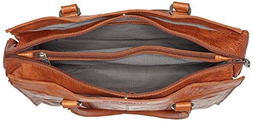 Spikes & Sparrow Unisex-Erwachsene Henkeltaschen, 40x32x13 cm Braun (brandy 070)
