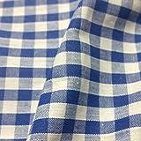 Royal Blau & Weiß Gingham Stoff Polyester und Baumwolle