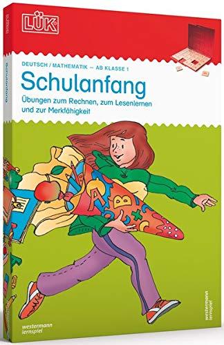 LÜK-Sets / Kasten + Übungsheft/e: LÜK-Set: 1. Klasse - Mathematik, Deutsch, Konzentration: Schulanfang: Das bunte Lernspiel mit lustigen Aufgaben für ... mit 24 Plättchen, ein Doppelband