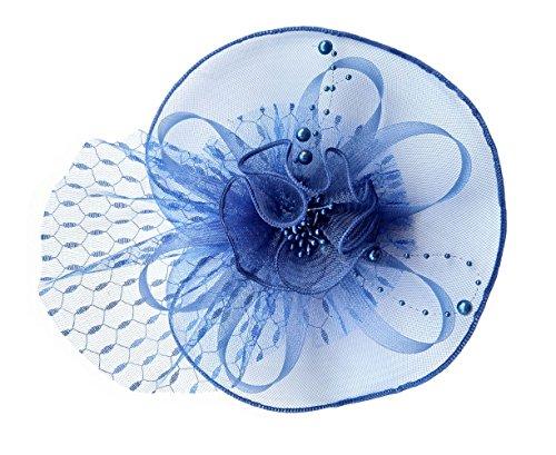rclip Stirnband Spitze Schleier Blume Braut Kopfschmuck (Königsblau) (Die Halloween Movie Theme)