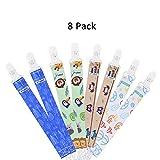DeBeiTe Schnullerband Baby Schnullerketten Clips 8Pcs Set Kunststoff Schnullerband Klemmen für Junge Mädchen Polyesterfasern Schnullerband Stoff für Lätzchen