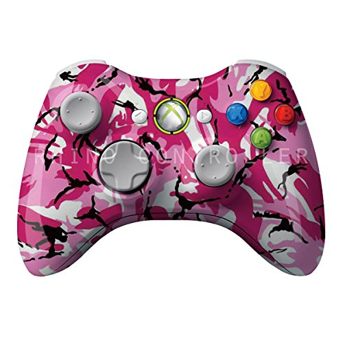 XBOX 360 Wireless Controller strålende WTP-384-Camo-Pink Personlig Painted- Uden Mods - Xbox 360 Wireless Controller Camo