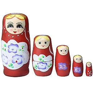 niceeshop(TM) Matryoshka Linda Muñecas Rusa de la Jerarquización de un Conjunto de 5 Piezas de niceeshop