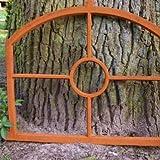 Eisenfenster, Fenster wie antik, Eisen gefertigt mit Rundsegment
